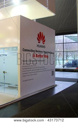 Hannover - March 9: Stand Of Huawei On March 9, 2013 At Cebit Computer Expo