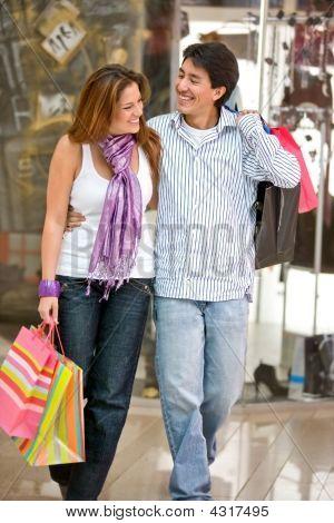 Casual Couple Shopping