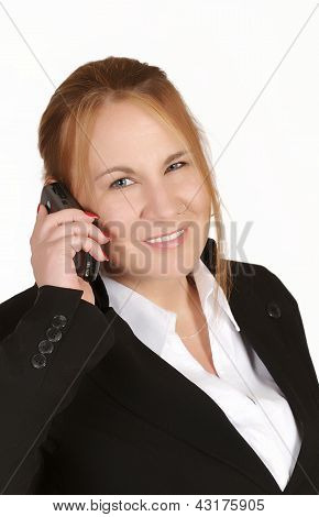 Mature Businesswoman With Cellphone