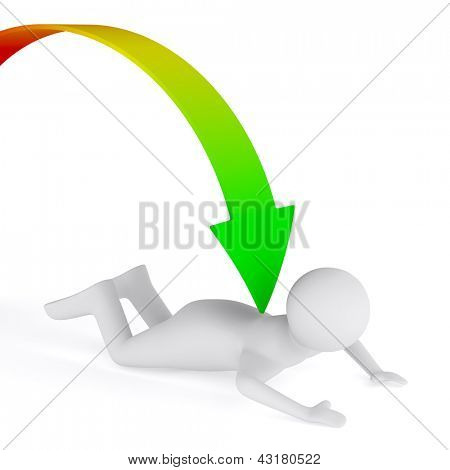 Problems in business. Isolated 3D image on white