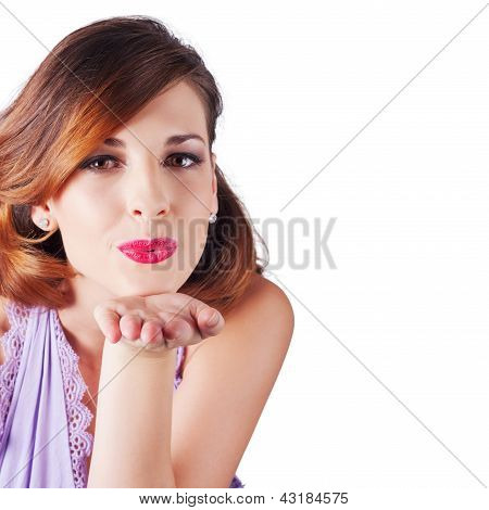 Woman Blowing Kiss