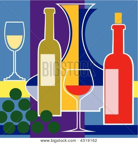 Red And White Wine Vector Background