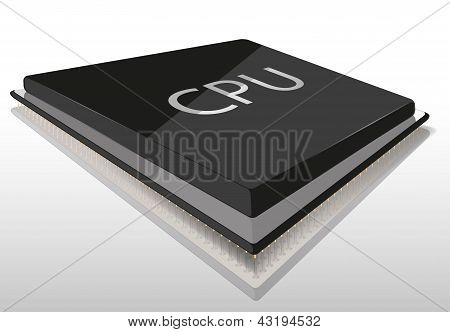 CPU vector illustration