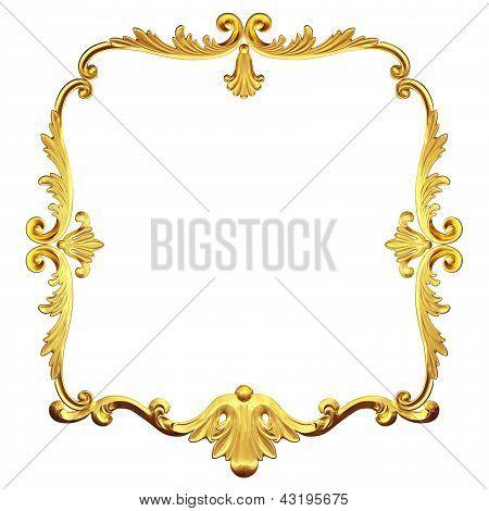 Gold Retro Frame