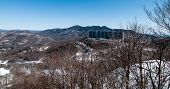 Blue Ridge Mountains Landscape In Snow