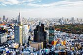 stock photo of kanto  - Afternoon cityscape of Shinjuku - JPG
