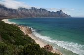 stock photo of fynbos  - A stretch of unspoilt South African coastline - JPG