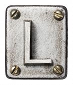 Old metal alphabet letter L