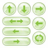 stock photo of backspace  - A set of 8 glossy arrow buttons - JPG
