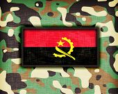 picture of ami  - Amy camouflage uniform with flag on it Angola - JPG