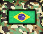 image of ami  - Amy camouflage uniform with flag on it Brazil - JPG