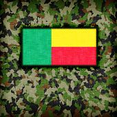 image of ami  - Amy camouflage uniform with flag on it Benin - JPG