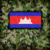 pic of ami  - Amy camouflage uniform with flag on it Cambodia - JPG