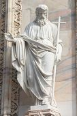 stock photo of milan  - Milan Duomo sculpture - JPG