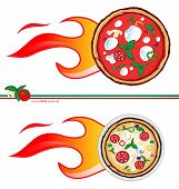 picture of meals wheels  - Two variants of the pizza express design/
