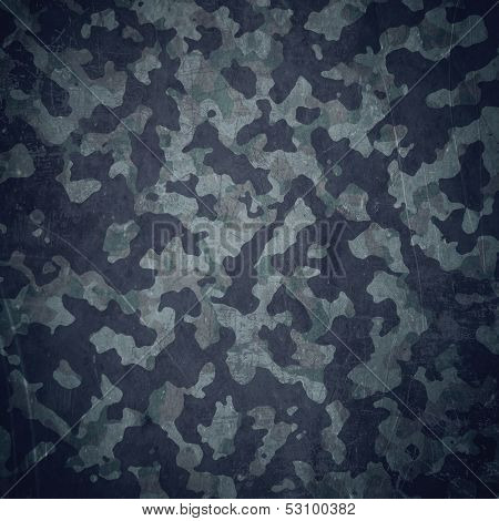 Grunge Military Background In Blue