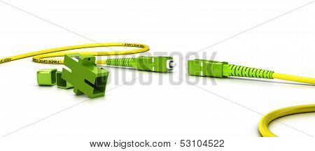 Fiber Optic Patchcord Over White