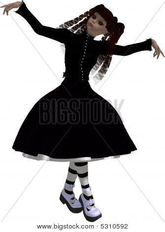 Gothic-Mädchen