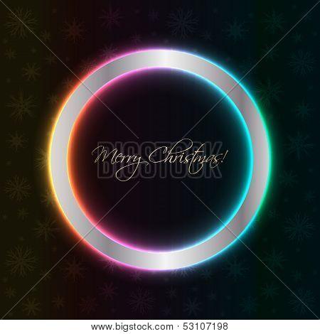 Christmas Background With Plasma Design