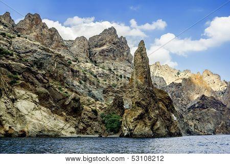 Crimea, Extinct Volcano Kara-dag Mountain Reserve, Ukraine