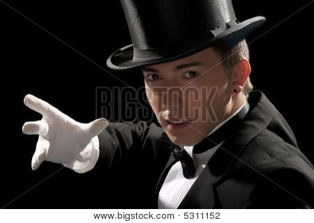 Young Magician With High Hat