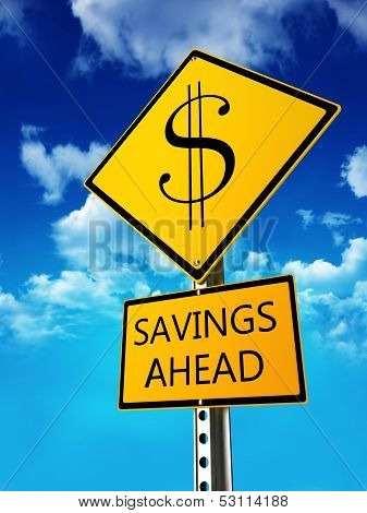 Savings ahead concept .