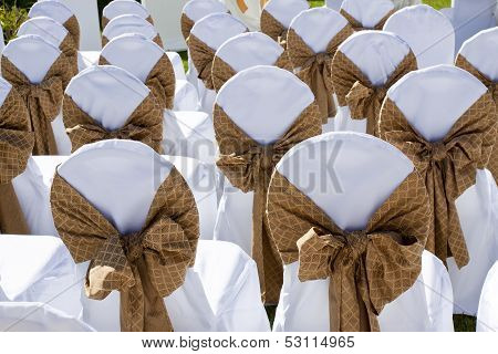 Decorated Wedding Chairs In A Row
