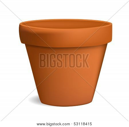 empty flowerpot vector illustration