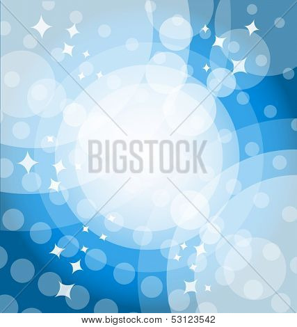 Blue bright background with highlights. Vector illustration. Eps 10