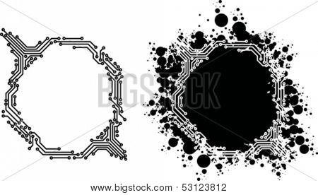 Grunge Electric Circuit Frame