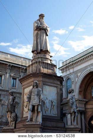 Monument Dedicated To Leonardo Da Vinci, Milan