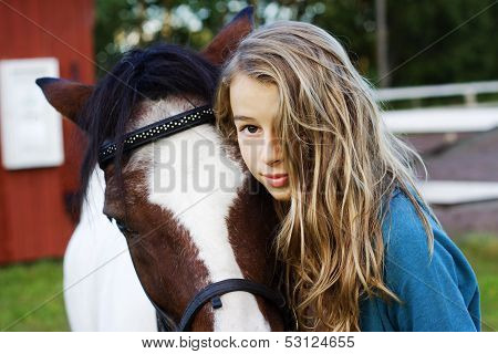 Teenager And Icelandic  Horse