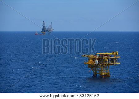 The Offshore Oil Rig And Remote Platform