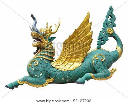 A Colorful Funny Dragon The Animals In Thai Literature Or Fantasy Story