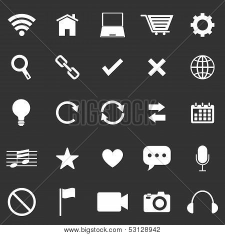 Web Icons On Black Background