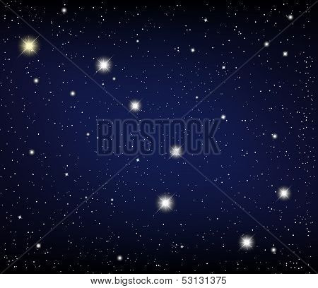 cosmos. Constellation URSA Major star in the night sky. Vector illustration