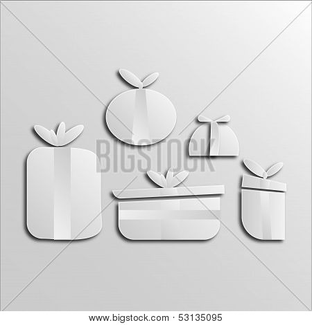 Gift boxes, 2d effect
