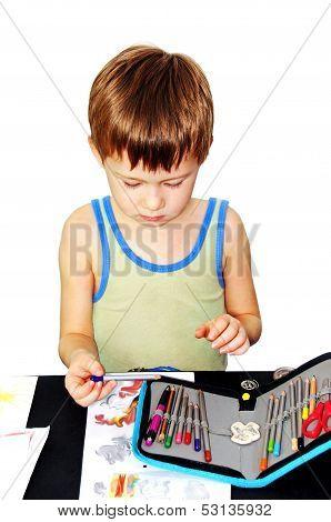 Which Draws A Boy.