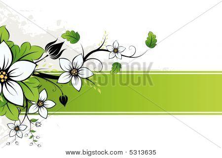 Grunge Flowers Ad
