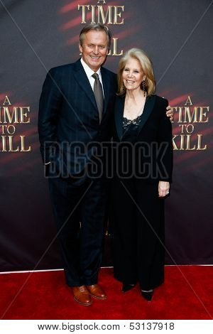 NEW YORK- OCT 20: Author John Grisham (L) and producer Daryll Roth attend the Broadway opening night of 'A Time To Kill' at The Golden Theatre on October 20, 2013 in New York City.