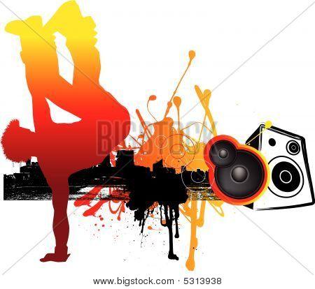 Breakdance Music Graphic