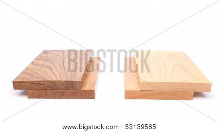 Two boards (acacia, oak) and two boards