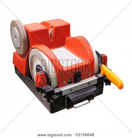 knife sharpener under the white background