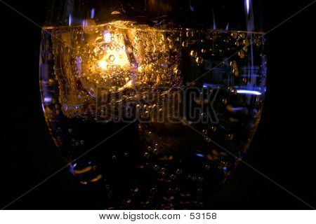 Golden Glow In The Glass