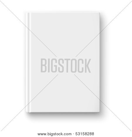 Blank book template with soft shadows.