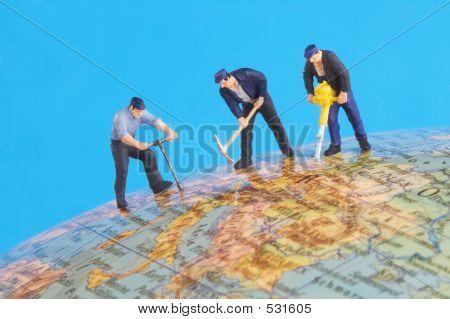 auf der ganzen Welt arbeiten