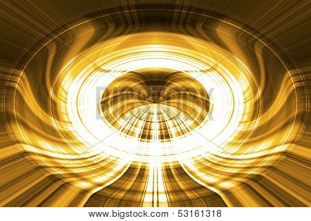 Glowing Gold Streaked Background