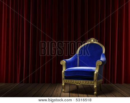 Blue Classic Armchair
