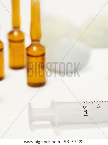 Syringe And Phials
