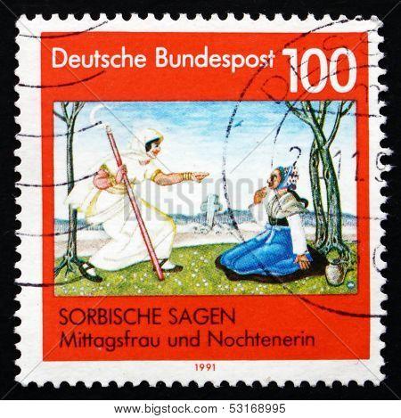 Postage Stamp Germany 1991 Sorbian Legends